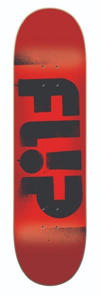 Дека Для Скейтборда FLIP Team Odyssey Stencil Deck RED 8,13