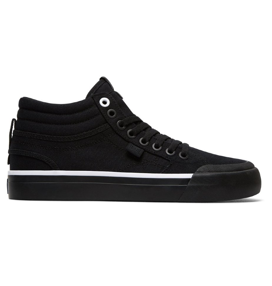 Кеды женские DC SHOES Evan Hi Tx J Black/Black/White 3613373246127