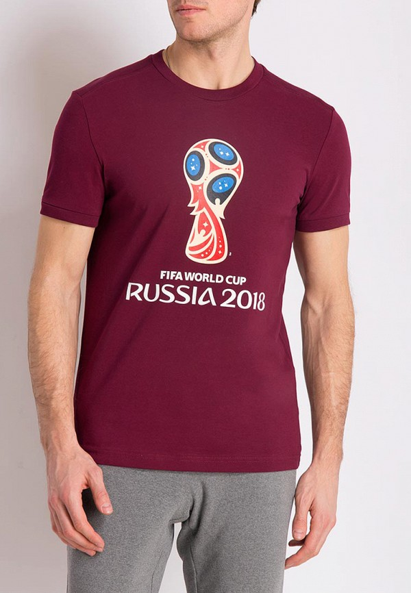 Футболка 2018 FIFA World Cup Russia™ цвет бордовый