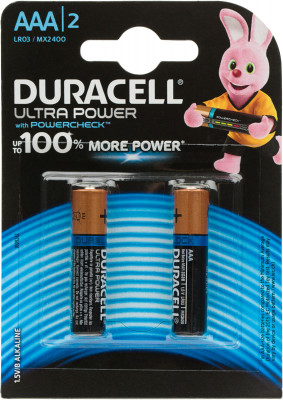 Батарейки щелочные Duracell Ultra Power ААА/LR03, 2 шт. P02F2E15IH