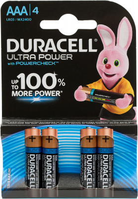 Батарейки щелочные Duracell Ultra Power ААА/LR03, 4 шт. DB7XGS44J6