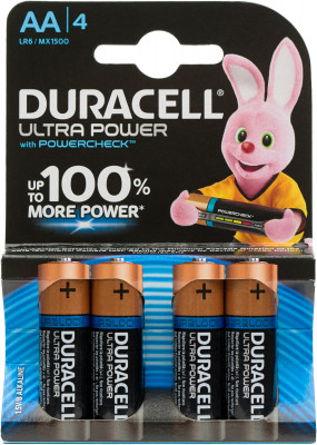 Батарейки щелочные Duracell Ultra Power АА/LR6, 4 шт. Q27KG06RBF