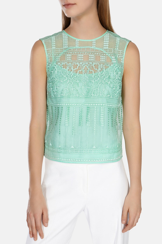Топ Karen Millen TV284_GREEN_SS15