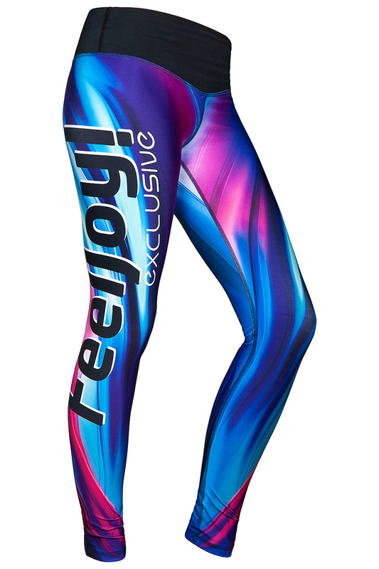 Леггинсы FEELJ! LEGGINGS_BLUE_WAVE_COLOURFUL